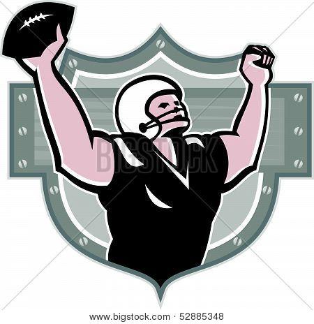 American Football Receiver Touchdown Retro
