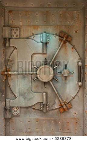Rusty Vault Or Safe Door