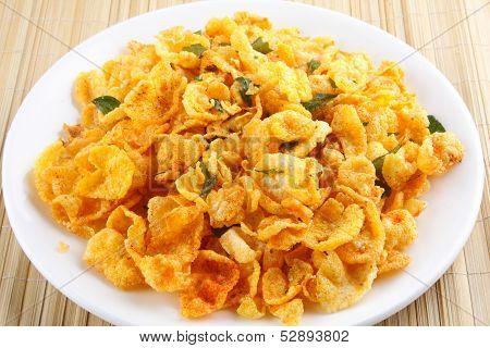 corn flakes fried.