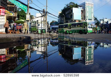 Cityscape reflect on water