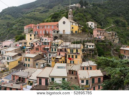 Colorful Buildings In Vernazza