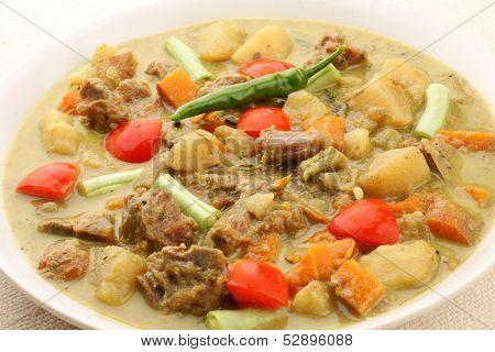 Mutton stew Asian style