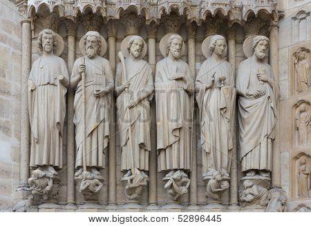 Notre Dame Entry Sculpture
