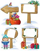 New Year Wooden Sign