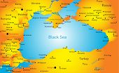 Vector map of Black sea region
