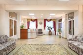 picture of reception-area  - Light hallway with sofas and reception area in a holiday home - JPG