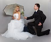 stock photo of enamored  - Wedding day - JPG