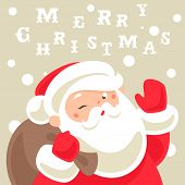 stock photo of letters to santa claus  - Santa Claus Christmas card - JPG
