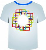 T Shirt Template- colorful blocks