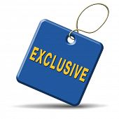 picture of exclusive  - exclusive offer edition or VIP treatment rare high quality product with limited production icon button or exclusivity sign - JPG
