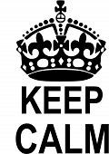 picture of ww2  - Vector illustration of a keep calm crown - JPG