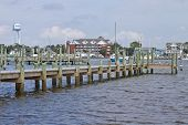 Okracoke Marina In The North Carolina Outer Banks