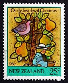 Postage Stamp New Zealand 1986 The First Day Of Christmas