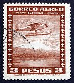 Postage Stamp Chile 1935 Seaplane