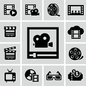 stock photo of strip  - Movie icons - JPG