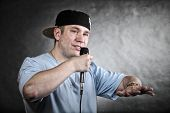 foto of rapper  - Rapper attitude rap singer hip Hop Dancer performing - JPG
