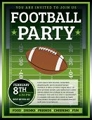 pic of football  - A flyer design perfect for tailgate parties football invites etc - JPG