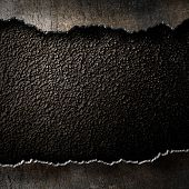 pic of edging  - metal background with torn edges - JPG
