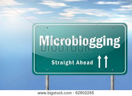 Highway Signpost Microblogging