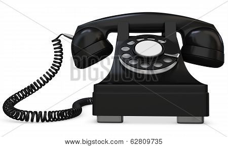 3D Black Old-fashioned Phone