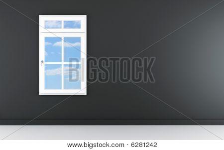 Blank Wall With Window