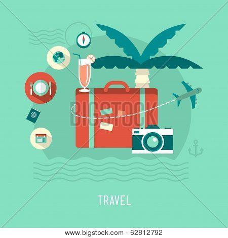 vector modern travel concept illustration