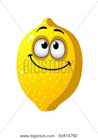 Fun cartoon lemon fruit