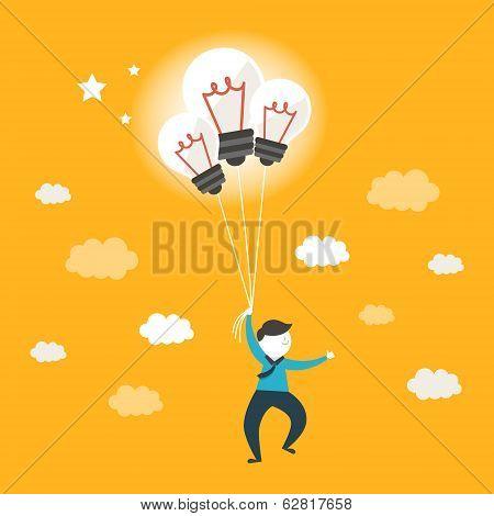 Flat Design Illustration Concept Of Ideas