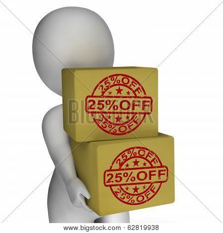 Twenty Five Percent Off Boxes Show 25  Price Markdown