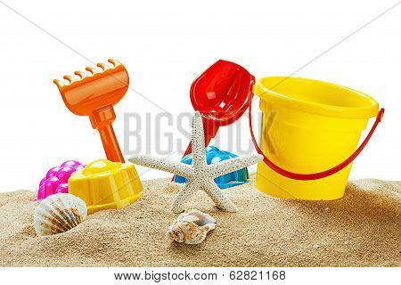 Toys For Sandbox Isolated