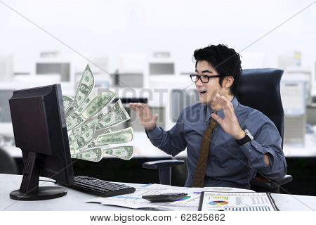 Expression Of Businessman Surprised