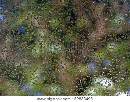 Rain drops abstract background