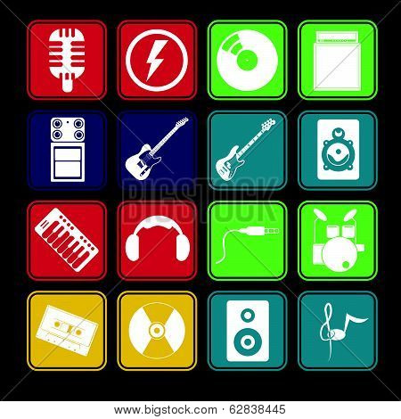Band Music Icon Set