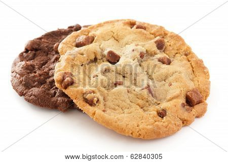 Light and dark chocolate chip cookies