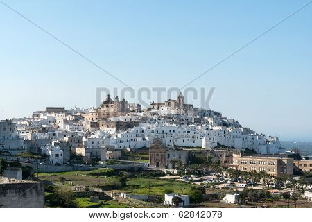 View Of The Old Town Ostuni (italy)