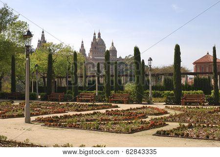 Greek Theatre Gardens. Barcelona. Spain