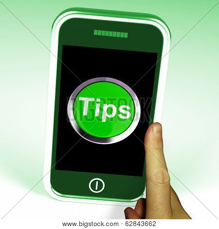Tips Smartphone Means Internet Hints And Suggestions