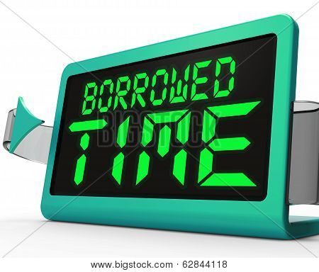 Borrowed Time Clock Shows Terminal Illness And Life Expectancy