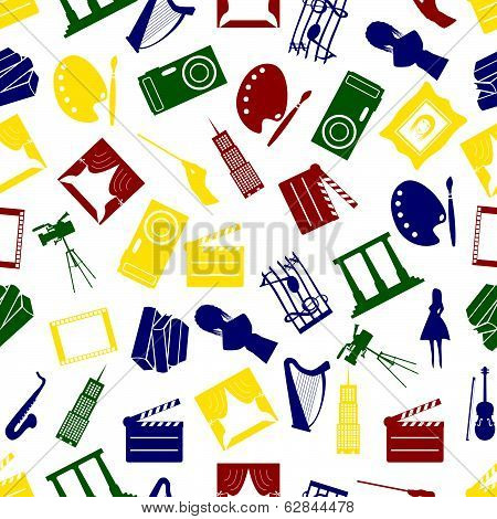 art icons colorful pattern seamless eps10