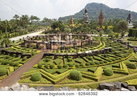 PATTAYA, THAILAND - NOVEMBER 11: Nong Nooch Tropical Garden in Pattaya on november 11, 2012 in Thailand