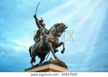 Statue of King Victor Emmanuel II in Venice, Italy.