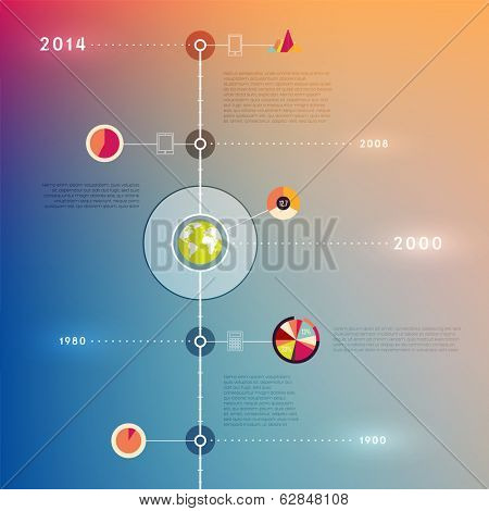 Timeline Infographic Set. Icons Collection. Vector Design Template.