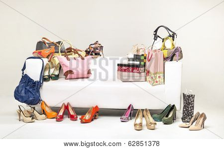 Bright large shoe store