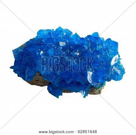 Blue Mineral Chalcanthite (copper Sulfate) On Stone