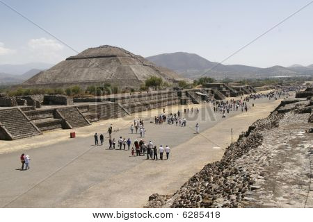 """avenue Of The Dead"" In Teotihuacan Pyramid Complex In Mexico"