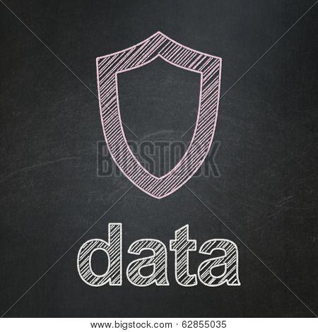 Information concept: Golden Data Backup on Binary Code background