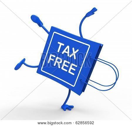 Tax Free Handstand Shopping Bag Shows No Duty Taxation