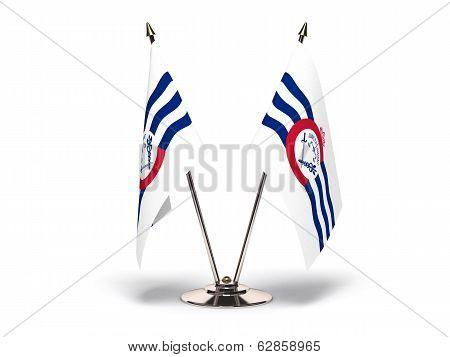 Miniature Flag Of Cincinnati Ohio
