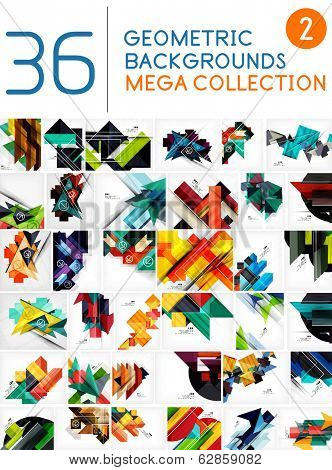 Mega collection of geometric shape abstract backgrounds