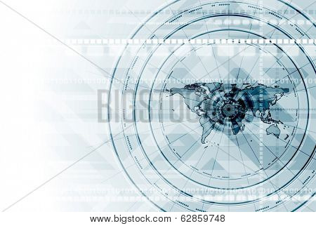 Light blue hi-tech vector background